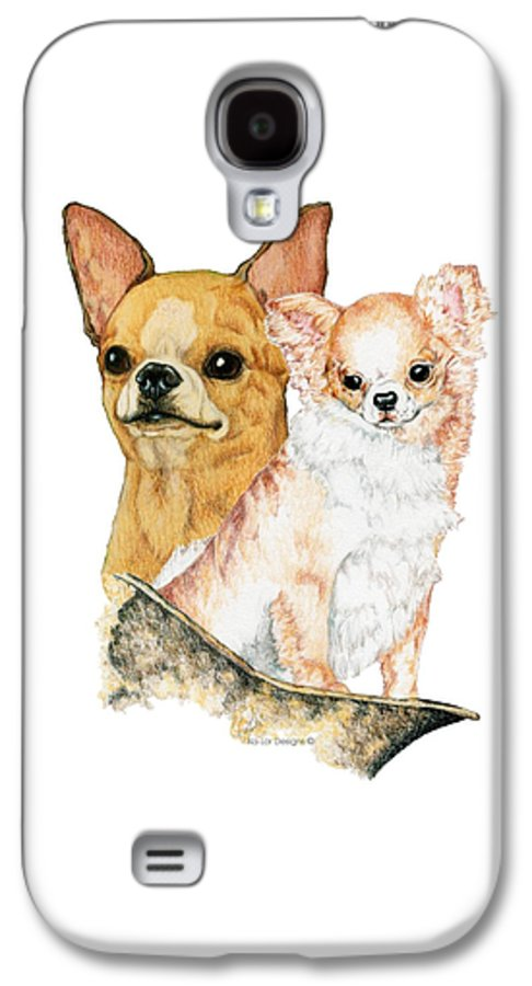 Chihuahua Galaxy S4 Case featuring the drawing Chihuahuas by Kathleen Sepulveda