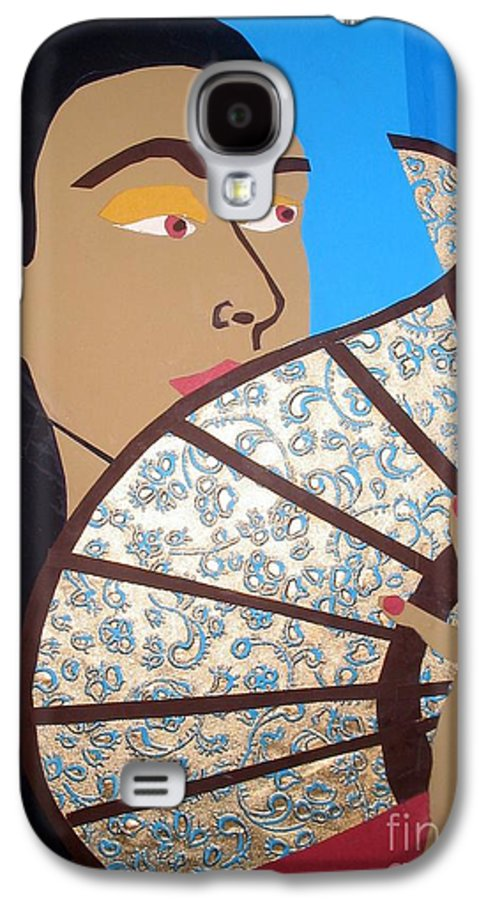 Chinese Galaxy S4 Case featuring the mixed media Chinese Fan by Debra Bretton Robinson