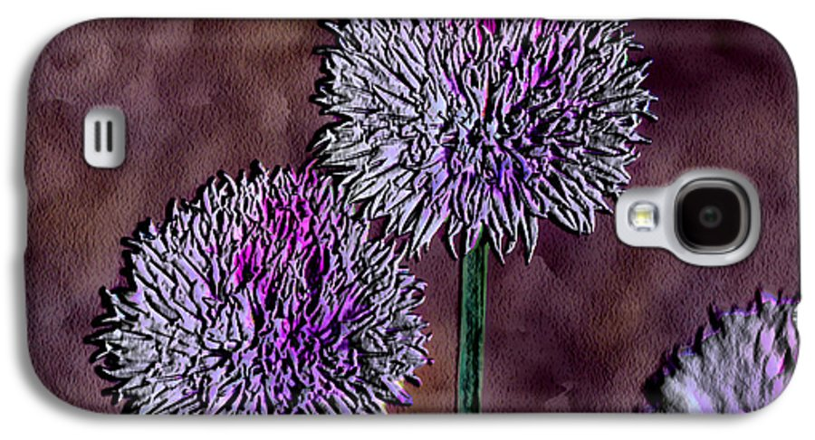 Ebsq Galaxy S4 Case featuring the photograph Chives by Dee Flouton