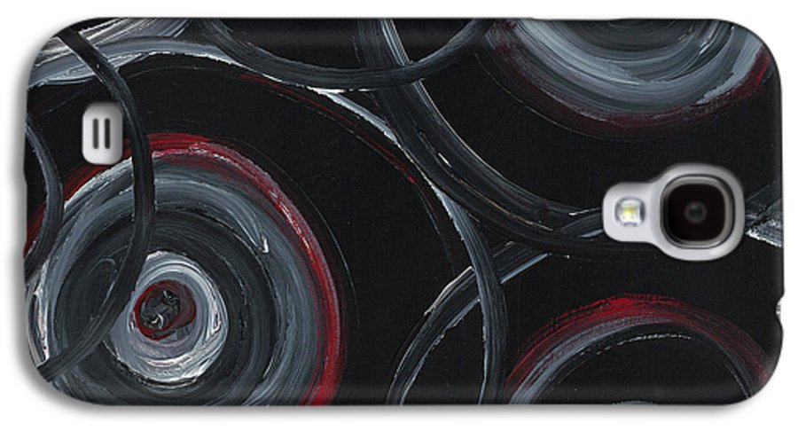 Circles Galaxy S4 Case featuring the painting Choices In Black by Nadine Rippelmeyer