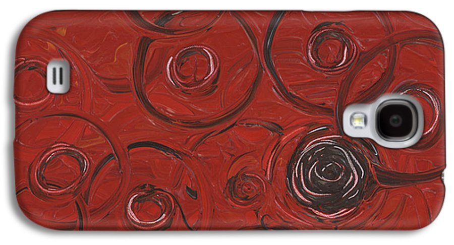 Red Galaxy S4 Case featuring the painting Choices In Red by Nadine Rippelmeyer