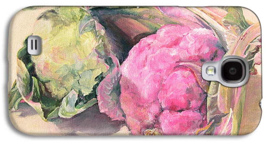Flower Galaxy S4 Case featuring the painting Choux by Muriel Dolemieux
