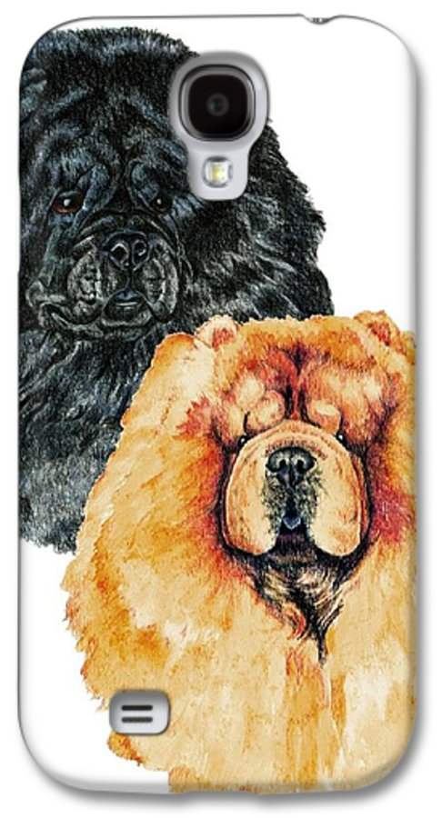 Chow Chow Galaxy S4 Case featuring the painting Chow Chows by Kathleen Sepulveda