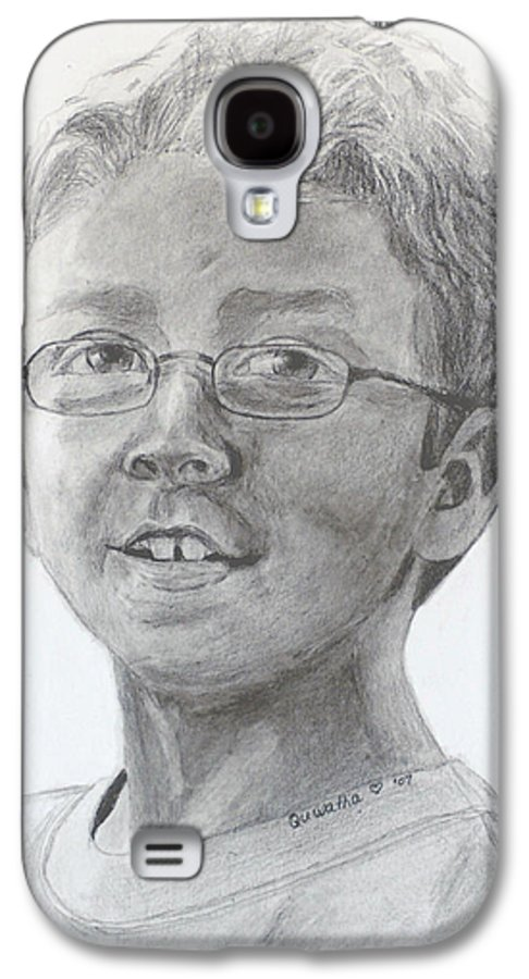 Chris Galaxy S4 Case featuring the drawing Chris Dovick by Quwatha Valentine