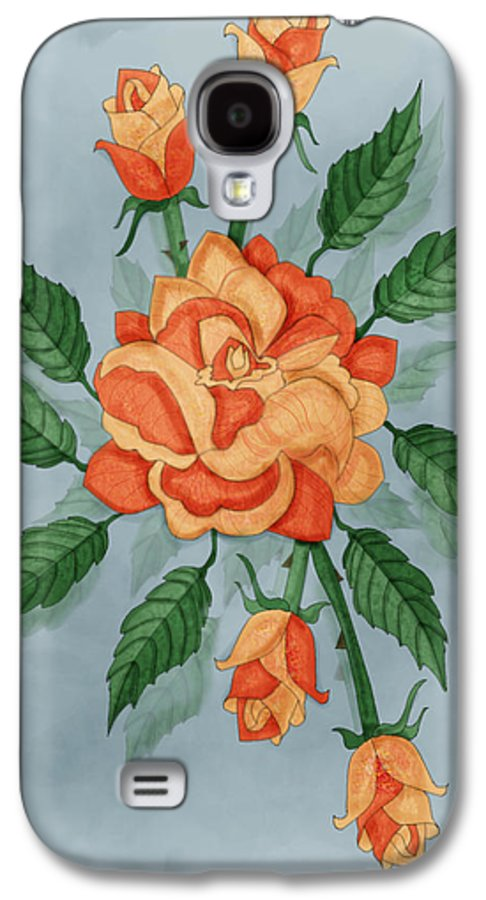 Floral Galaxy S4 Case featuring the painting Christ And The Disciples Roses by Anne Norskog