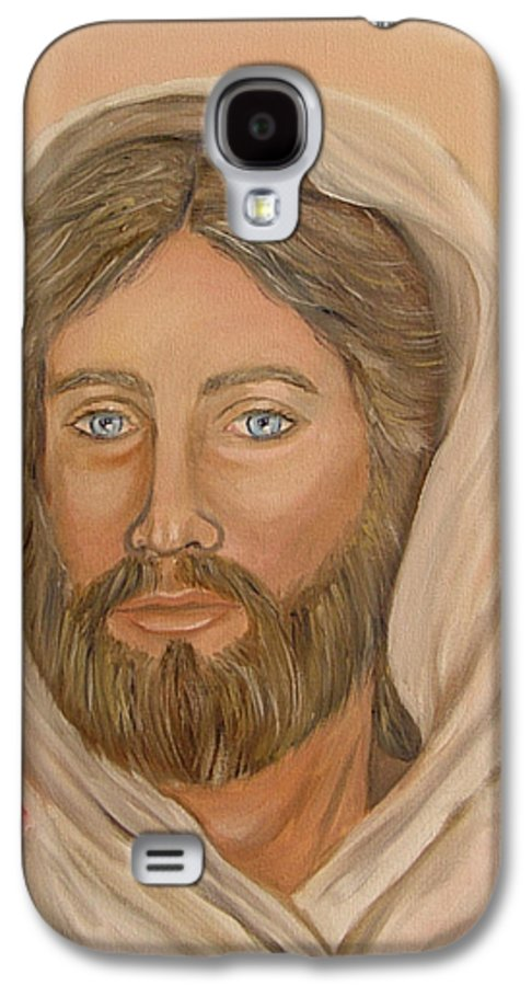 Christ Galaxy S4 Case featuring the painting Christ by Quwatha Valentine
