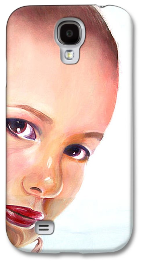 Portrait Galaxy S4 Case featuring the painting Christine by Fiona Jack