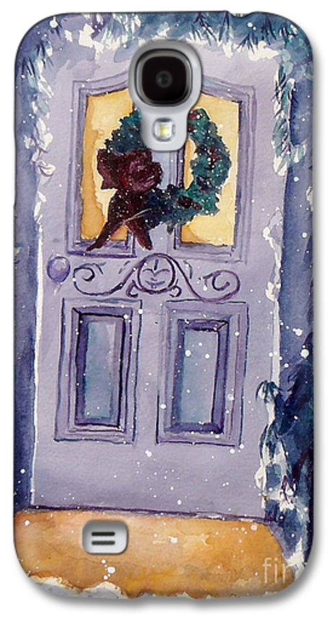 Holiday Scene Galaxy S4 Case featuring the painting Christmas Eve by Jan Bennicoff