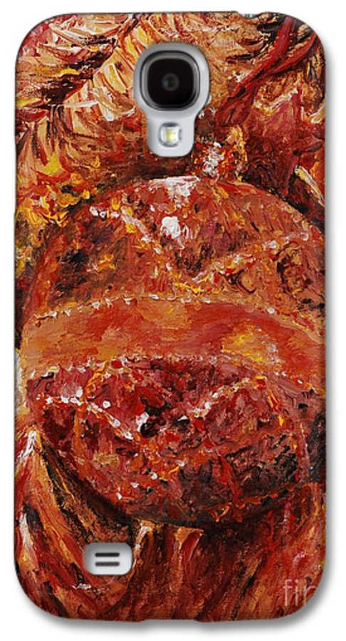 Christmas Galaxy S4 Case featuring the painting Christmas Glitter by Nadine Rippelmeyer
