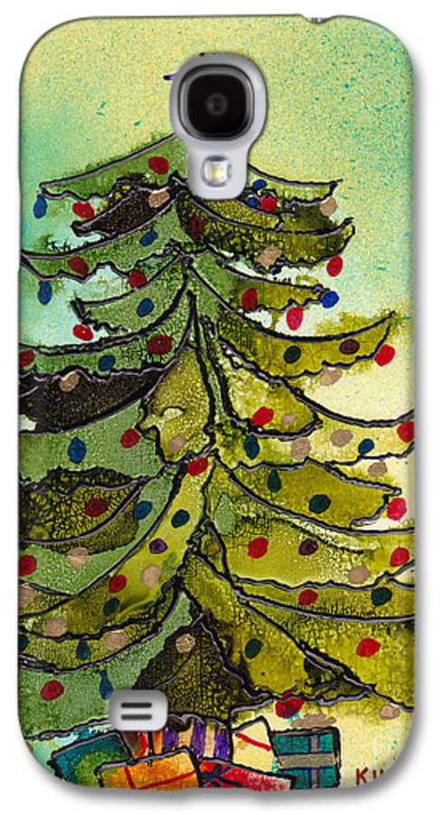 Christmas Galaxy S4 Case featuring the painting Christmas Morning 2008 by Susan Kubes