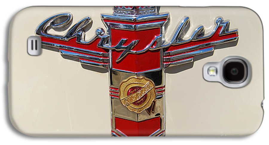 Automobile Galaxy S4 Case featuring the photograph Chrysler Hood Logo by Larry Keahey