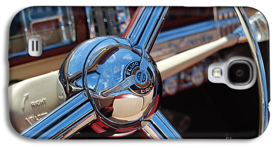 Classics Galaxy S4 Case featuring the photograph Chrysler Town And Country Steering Wheel by Larry Keahey