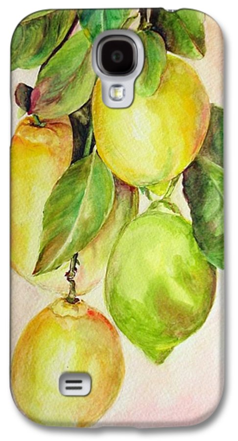 Still Life Galaxy S4 Case featuring the painting Citrons by Muriel Dolemieux