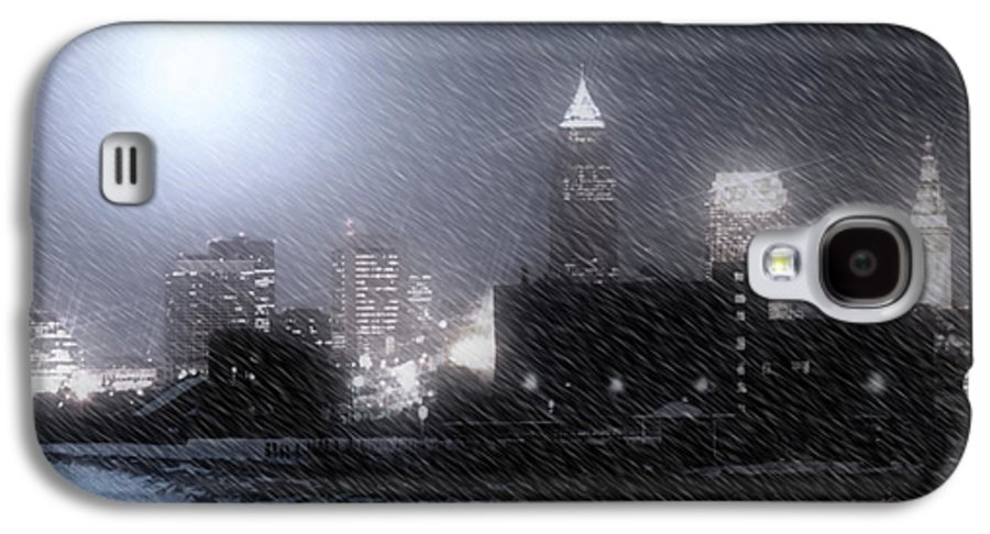 Cleveland Galaxy S4 Case featuring the photograph City Bathed In Winter by Kenneth Krolikowski