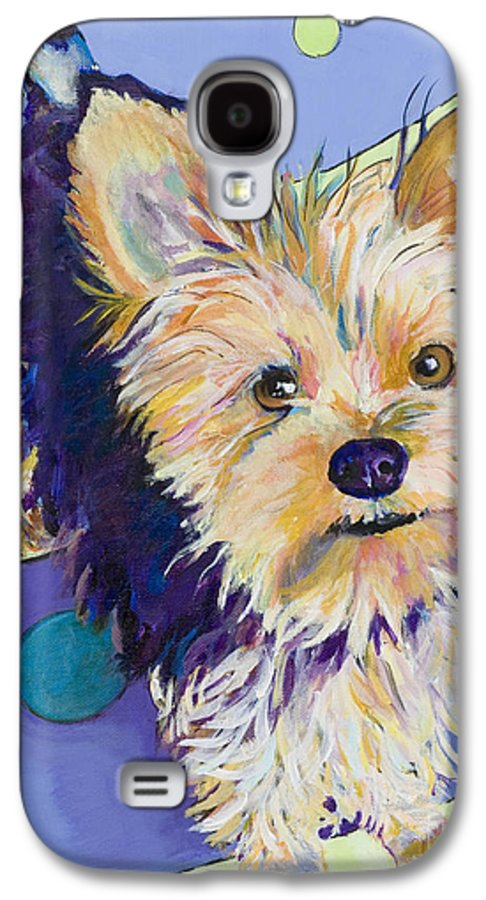 Pet Portraits Galaxy S4 Case featuring the painting Claire by Pat Saunders-White