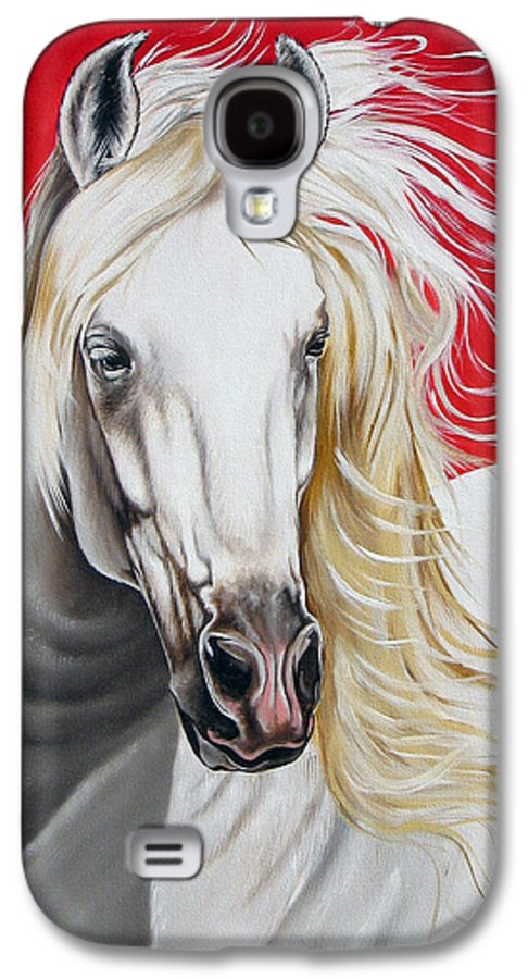 Horse Galaxy S4 Case featuring the painting Cleo by Ilse Kleyn