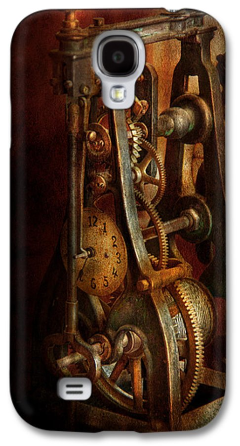 Hdr Galaxy S4 Case featuring the photograph Clockmaker - Careful I Bite by Mike Savad