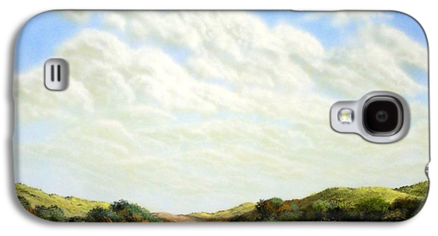 Landscape Galaxy S4 Case featuring the painting Clouds Of Spring by Frank Wilson