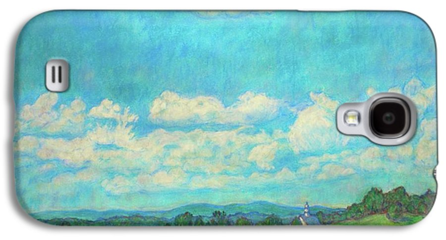 Landscape Galaxy S4 Case featuring the painting Clouds Over Fairlawn by Kendall Kessler