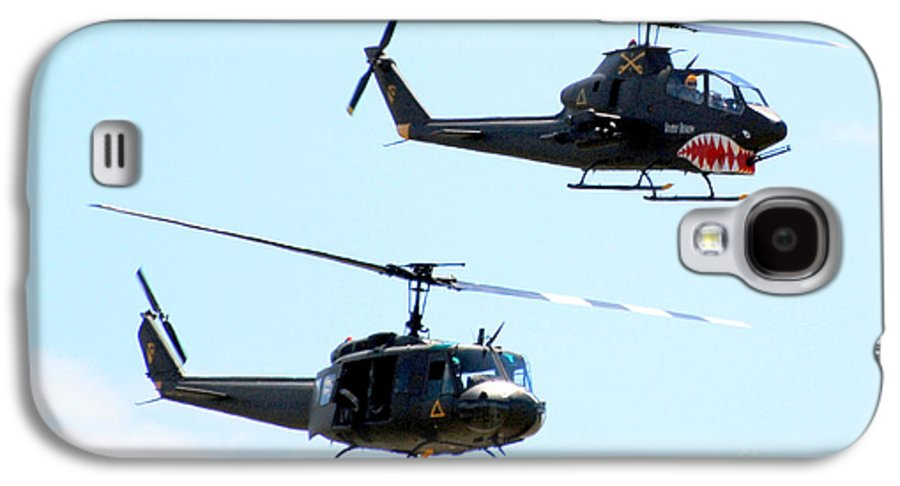 Military Galaxy S4 Case featuring the photograph Cobra And Huey by Larry Keahey