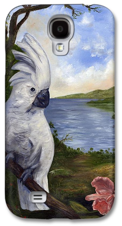 Landscape Galaxy S4 Case featuring the painting Cockatoo And Orchid by Anne Kushnick