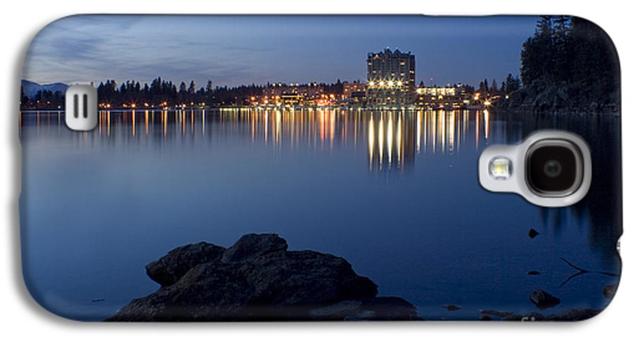 Skyline Galaxy S4 Case featuring the photograph Coeur D Alene Skyline Night by Idaho Scenic Images Linda Lantzy