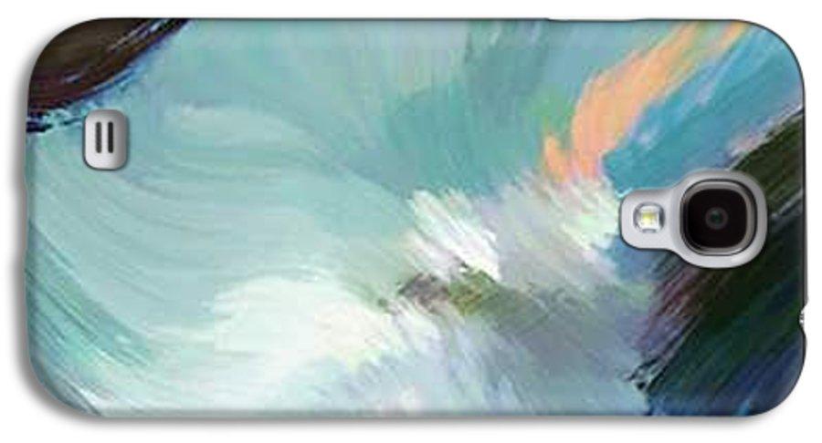 Landscape Digital Art Galaxy S4 Case featuring the digital art Color Falls by Anil Nene