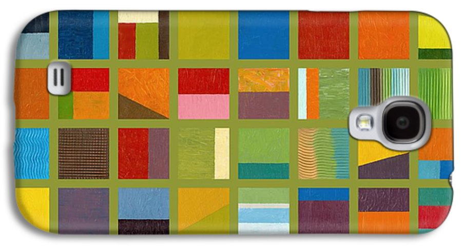 Abstract Galaxy S4 Case featuring the painting Color Study Collage 64 by Michelle Calkins