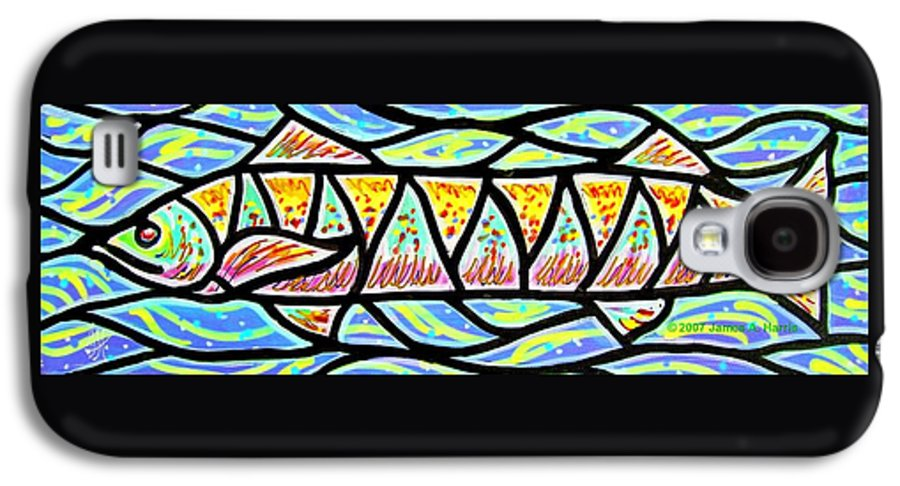Fish Galaxy S4 Case featuring the painting Colorful Longfish by Jim Harris