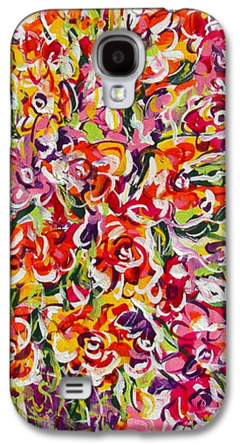 Framed Prints Galaxy S4 Case featuring the painting Colorful Organza by Natalie Holland