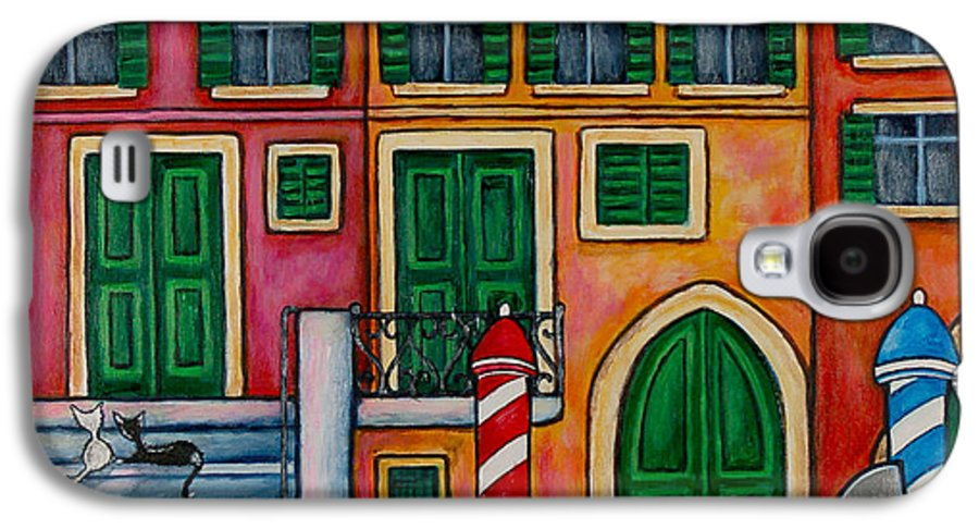 Venice Galaxy S4 Case featuring the painting Colours Of Venice by Lisa Lorenz