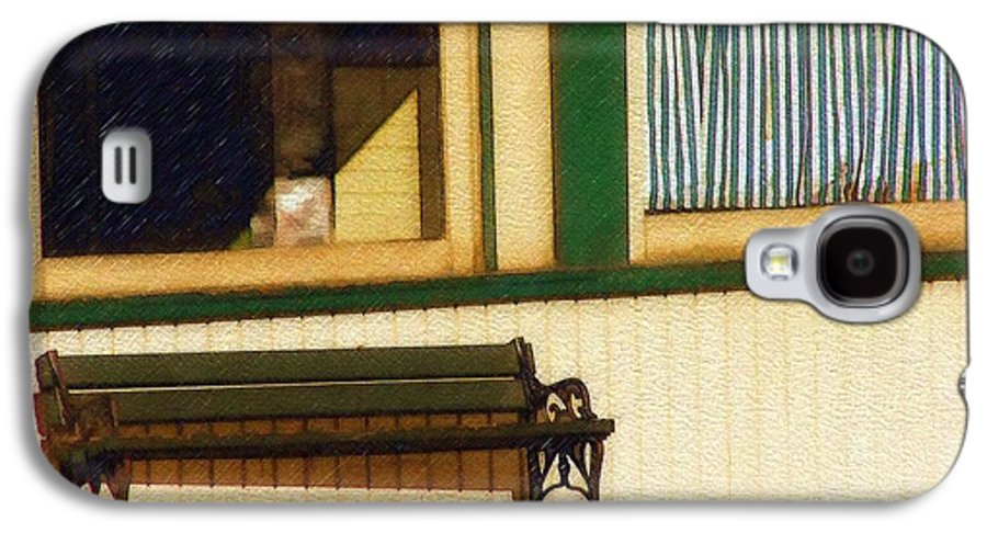 Bench Galaxy S4 Case featuring the photograph Come Sit A Spell by Sandy MacGowan