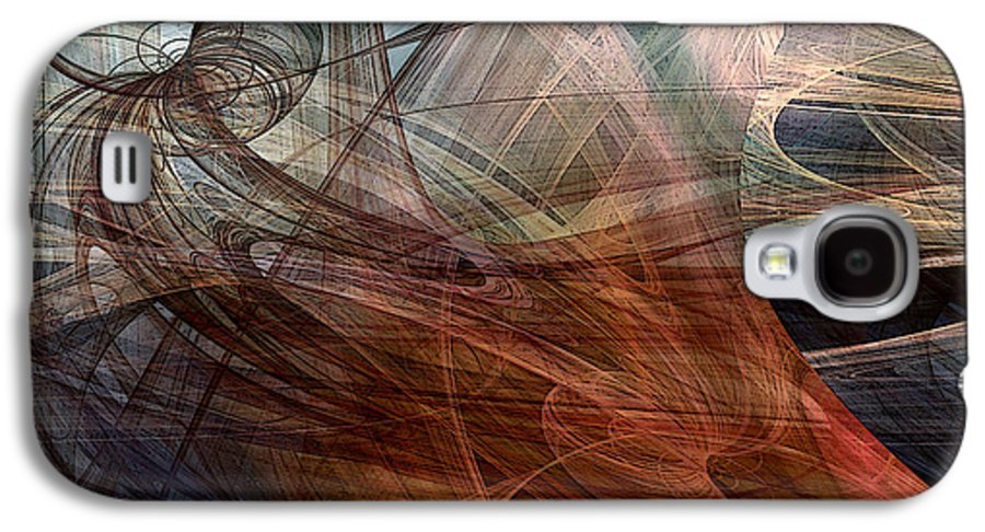 Abstract Galaxy S4 Case featuring the digital art Complex Decisions by Ruth Palmer