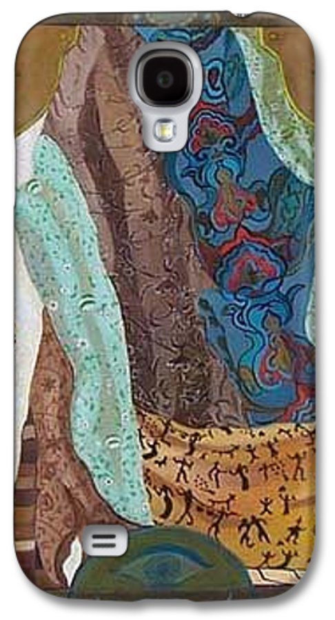 Galaxy S4 Case featuring the painting Composition With Scarfs by Antoaneta Melnikova- Hillman