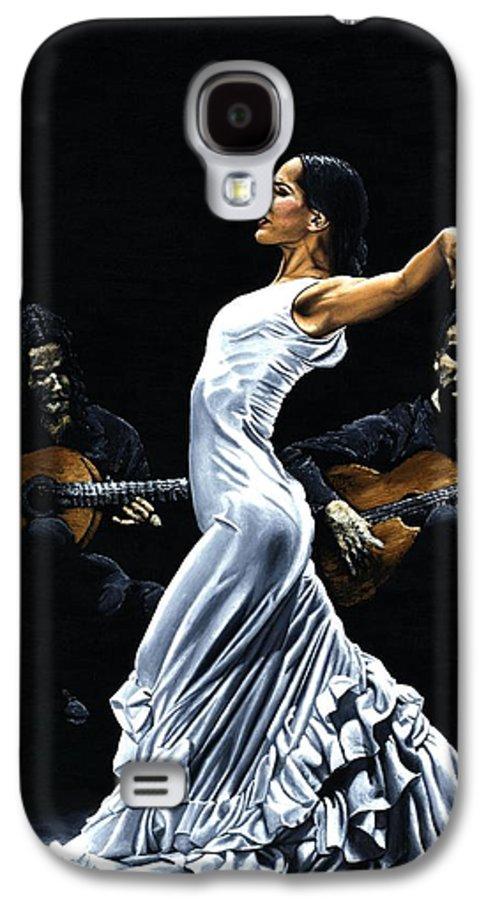 Flamenco Galaxy S4 Case featuring the painting Concentracion Del Funcionamiento Del Flamenco by Richard Young