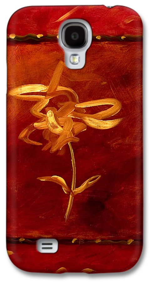 Abstract Galaxy S4 Case featuring the painting Confidence by Shannon Grissom