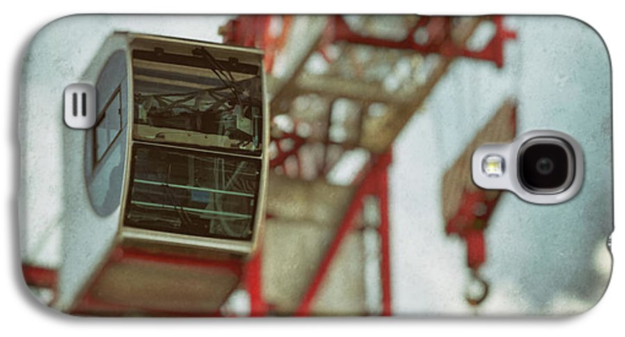 Construction Crane Galaxy S4 Case featuring the photograph Construction Crane by Wim Lanclus