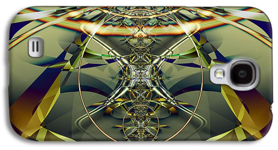 Fractal Galaxy S4 Case featuring the digital art Construction Rings by Frederic Durville
