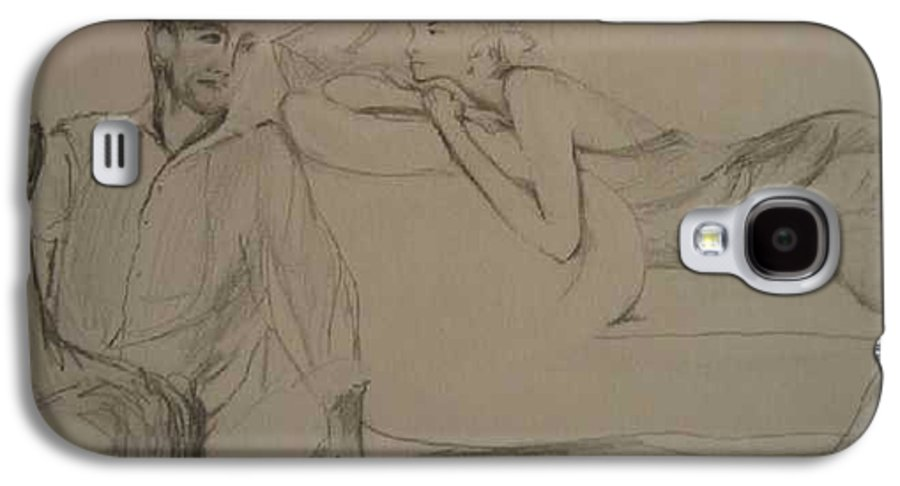 Seduction Galaxy S4 Case featuring the painting Contentment by Lizzy Forrester