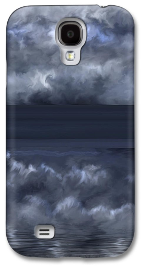 Seascape Galaxy S4 Case featuring the painting Convergence Zone by Anne Norskog