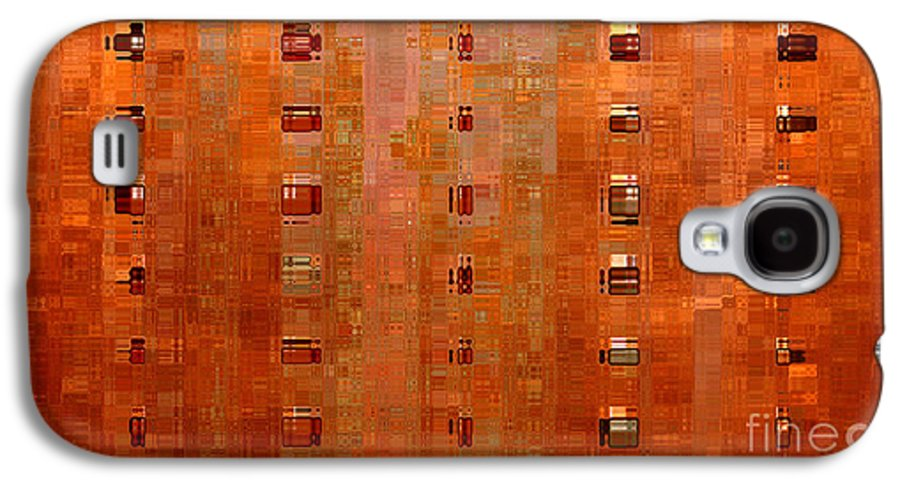 Digital Art Abstract Galaxy S4 Case featuring the digital art Copper Abstract by Carol Groenen