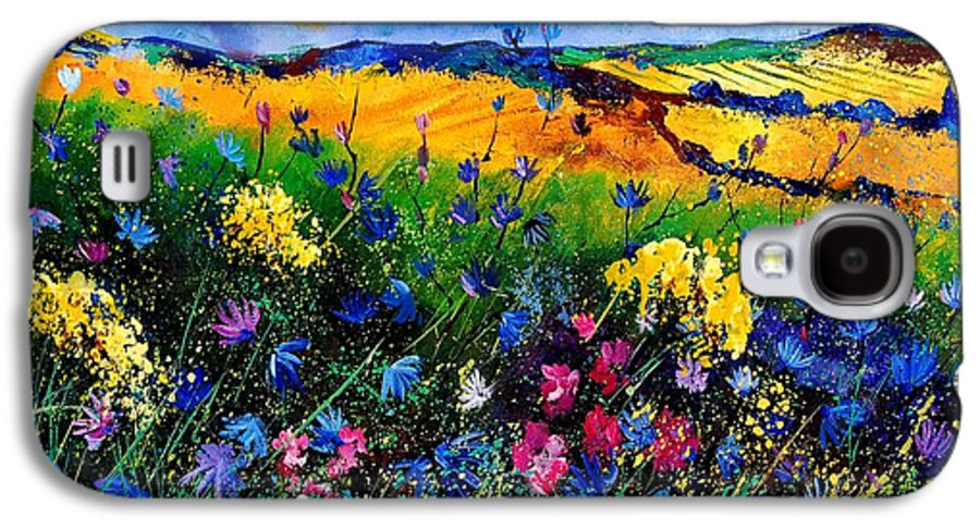 Flowers Galaxy S4 Case featuring the painting Cornflowers 680808 by Pol Ledent