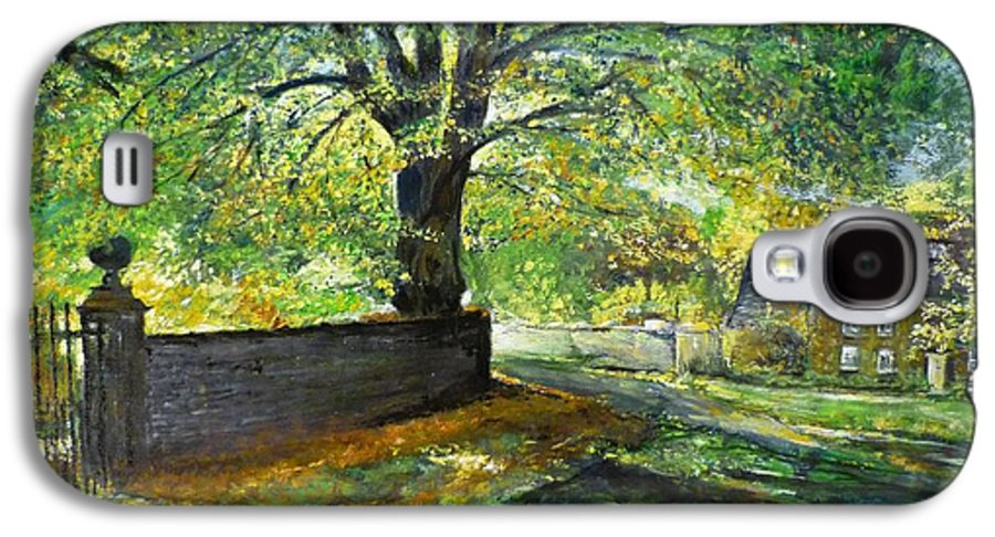 Landscape Galaxy S4 Case featuring the painting Cotswold Lane by Lizzy Forrester