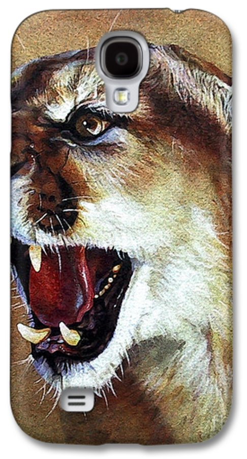 Southwest Art Galaxy S4 Case featuring the painting Cougar by J W Baker
