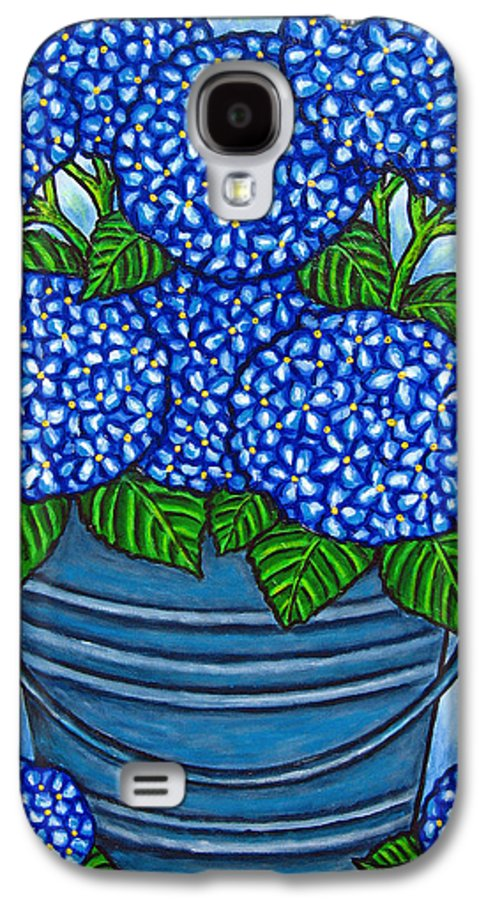 Blue Galaxy S4 Case featuring the painting Country Blues by Lisa Lorenz