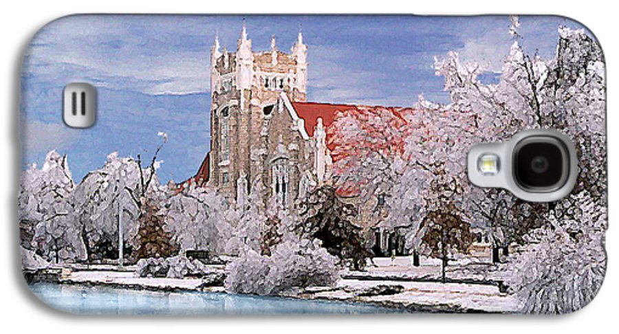 Winter Galaxy S4 Case featuring the photograph Country Club Christian Church by Steve Karol