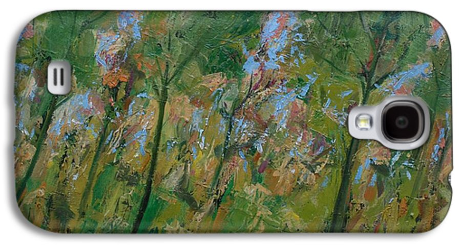 Trees Galaxy S4 Case featuring the painting Country Landscape by Mario Zampedroni