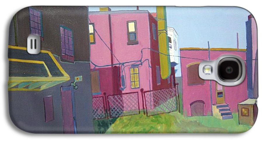 Alleyway Galaxy S4 Case featuring the painting Courtyard View by Debra Bretton Robinson
