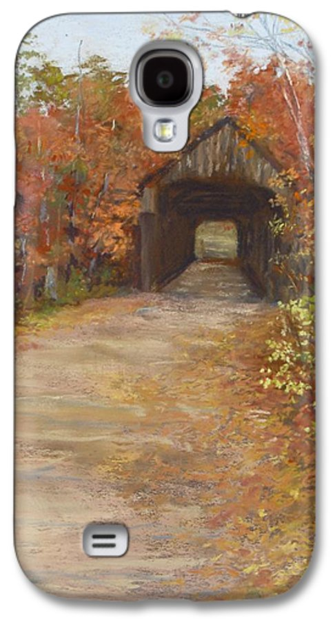 Covered Bridge Galaxy S4 Case featuring the painting Covered Bridge Southern Nh by Jack Skinner