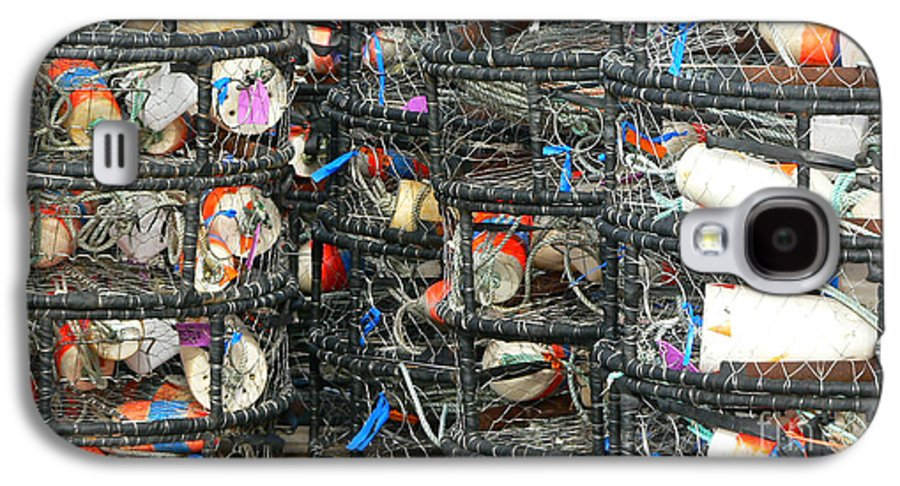 Crabs Galaxy S4 Case featuring the photograph Crab Traps by Larry Keahey